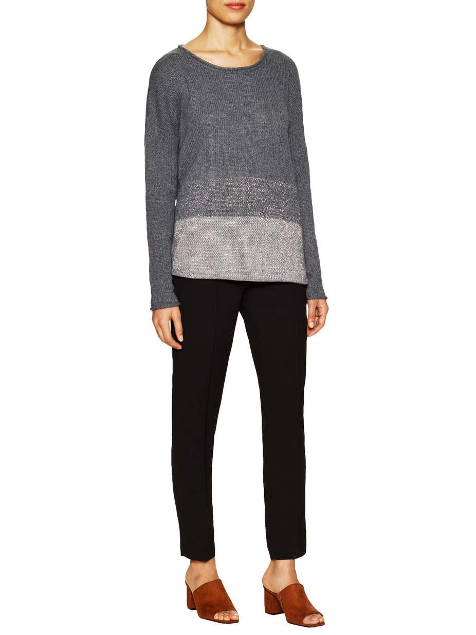 Шерстяной свитер  T TAHARI Esme Curved Sweater, размер L (на рос. 48-50)