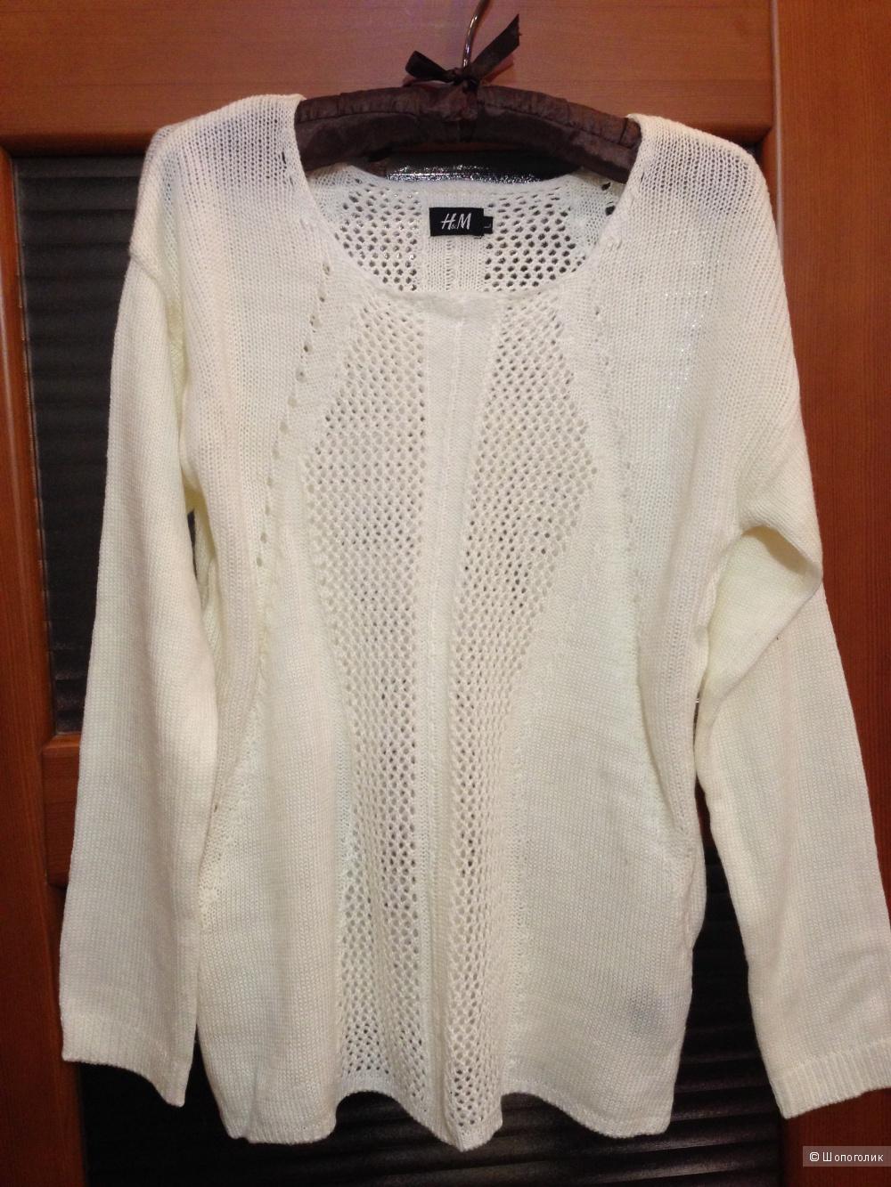 Ажурные свитера H&M, молочного цвета - L, цвета морской волны - XL