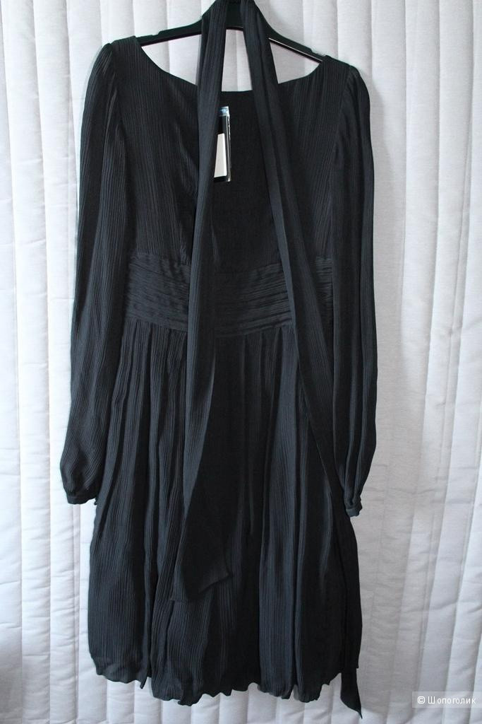 Новое шелковое платье Tom Klaim, черное