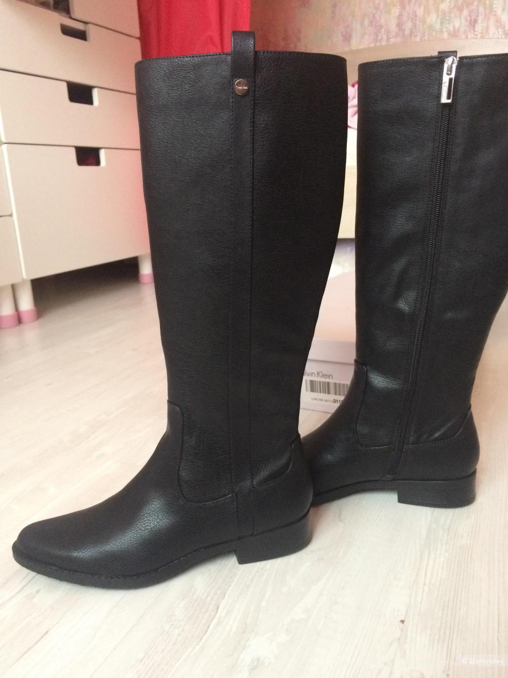 Новые сапоги  Calvin Klein ( оригинал) размер  37,5  под