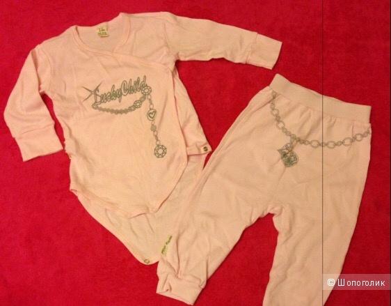 Новый комплект на малышку ростом 80-86 Lucky child.