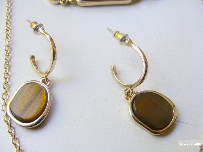 Комплект бижутерии AVON : серьги, браслет, колье НОВЫЙ