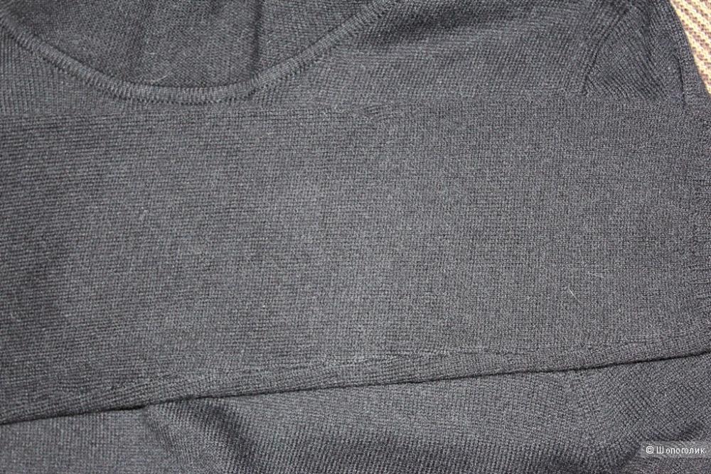 Платье трикотажное чёрное YUKA на 42-44