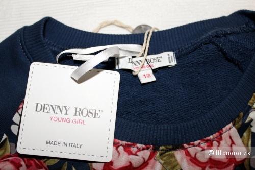 Толстовка DENNY ROSE YOUNG GIRL, синяя, на девочку ростом 142-146 см