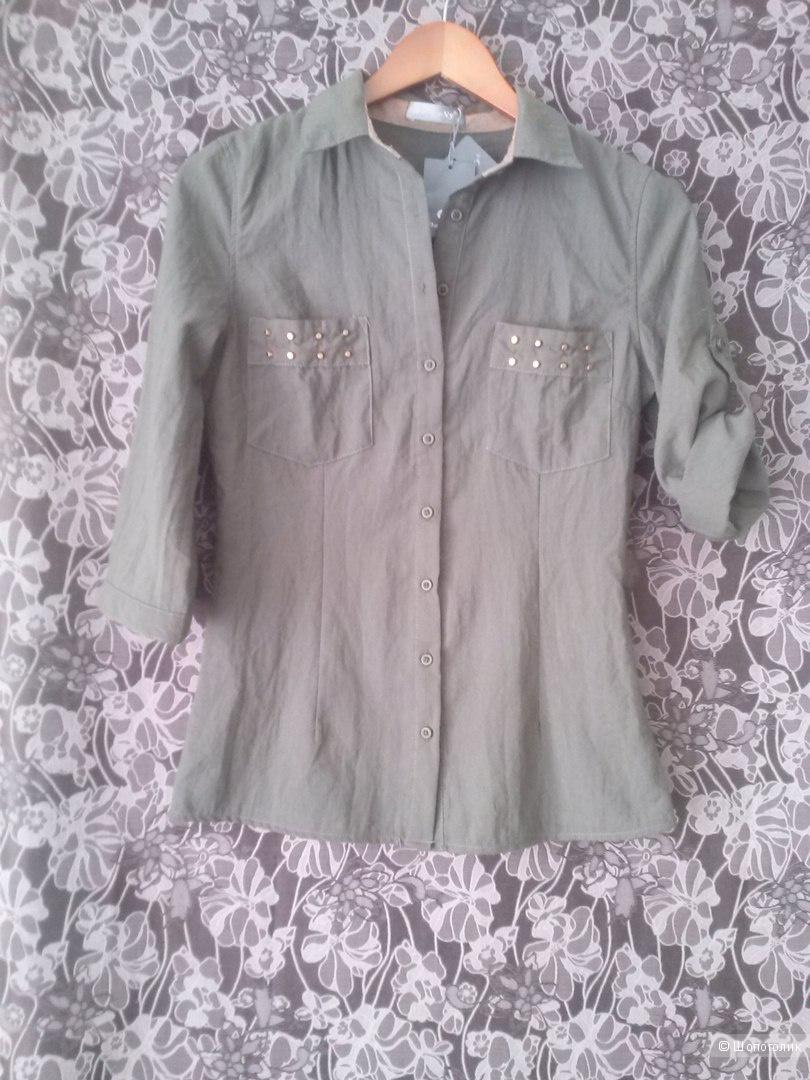 Рубашка цвета хаки 42-44