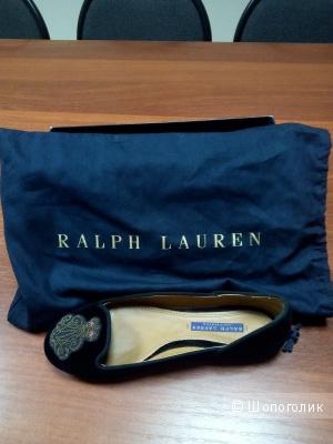 Ralph Lauren велюровые балетки 37 р, оригинал.