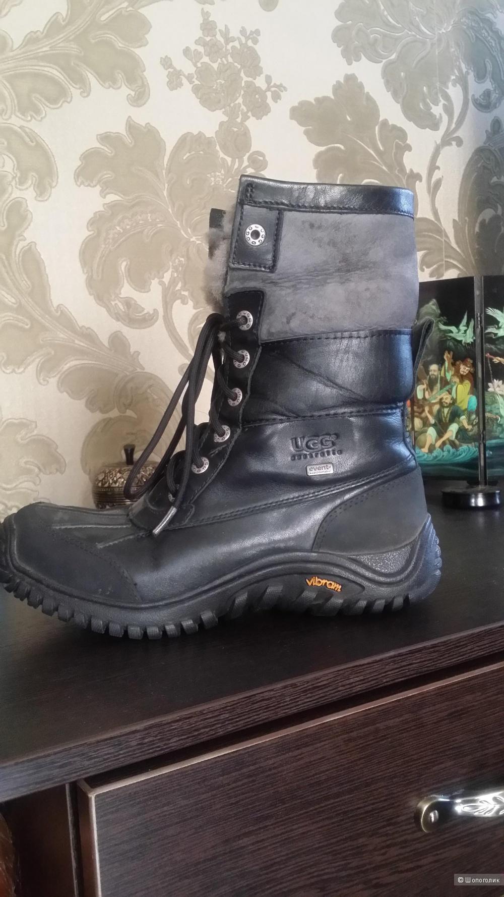 Зимние кожаные с натуральным мехом ботинки UGG EU 39 размер оригинал Водонепроницаемые