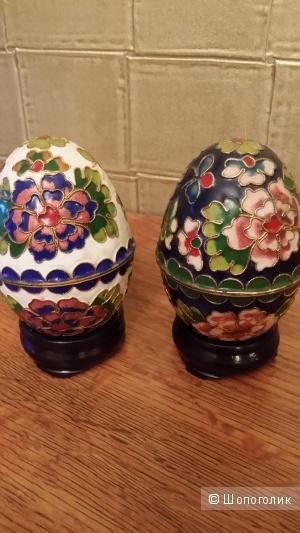 Шкатулки  в форме яйца эмаль производство Тунис ручная работа