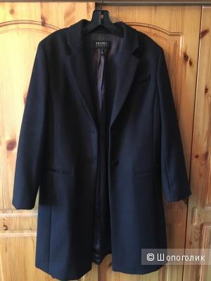 Классическое темно-синее пальто Escada Sport р.38 немецкий (на росс.46)