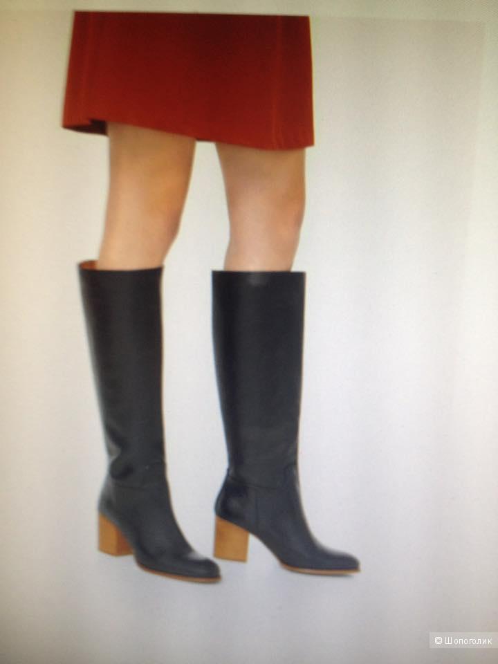 Новые кожаные сапоги Mango 38 размер