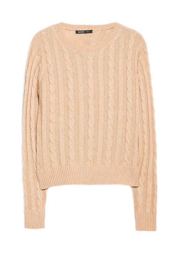 Mango: женский свитер с косами и аранами, XL