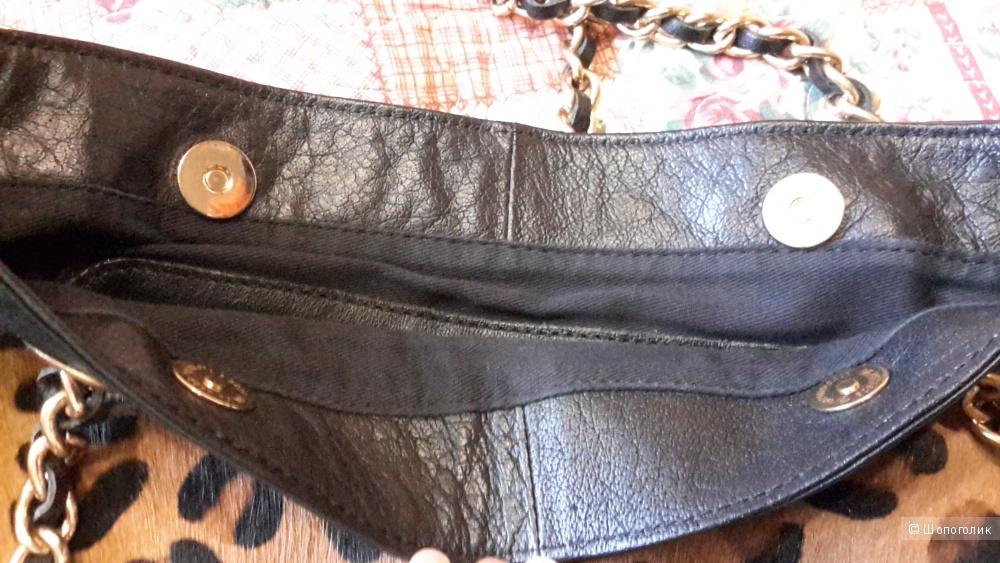 Сумка Mango кожа 100% и карман из шерсти пони, б/у 1 раз, состояние отличное