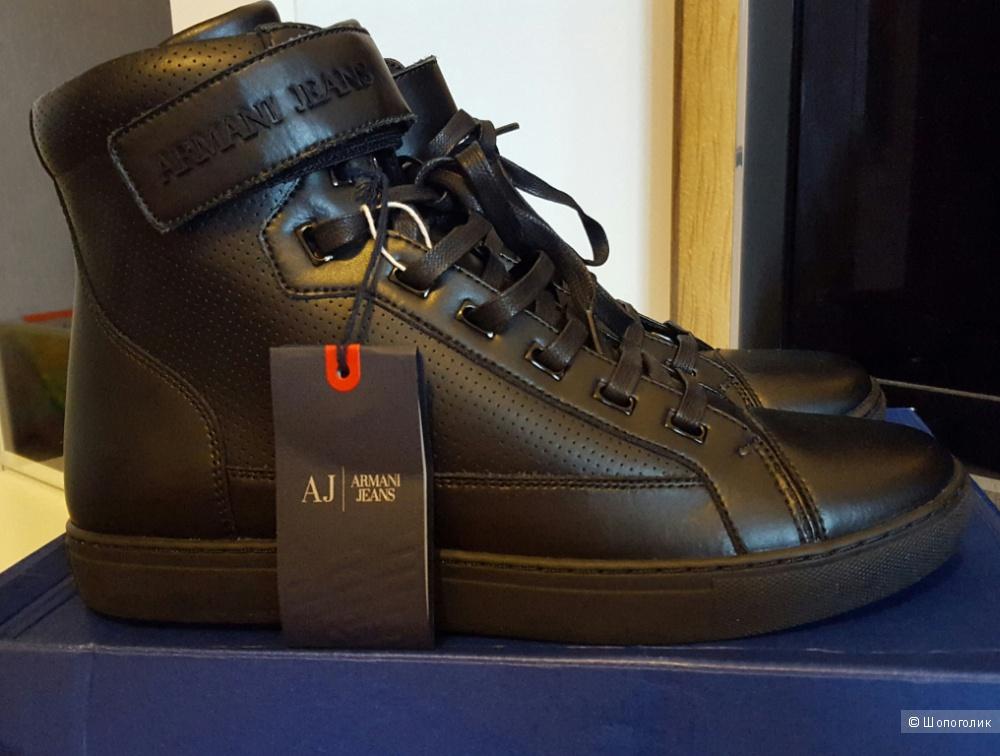Продам новые высокие кроссовки Armani Jeans из шкуры быка, 43 размер (оригинал)