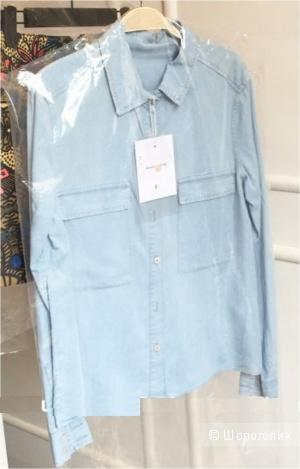 Рубашка хлопок-джинс