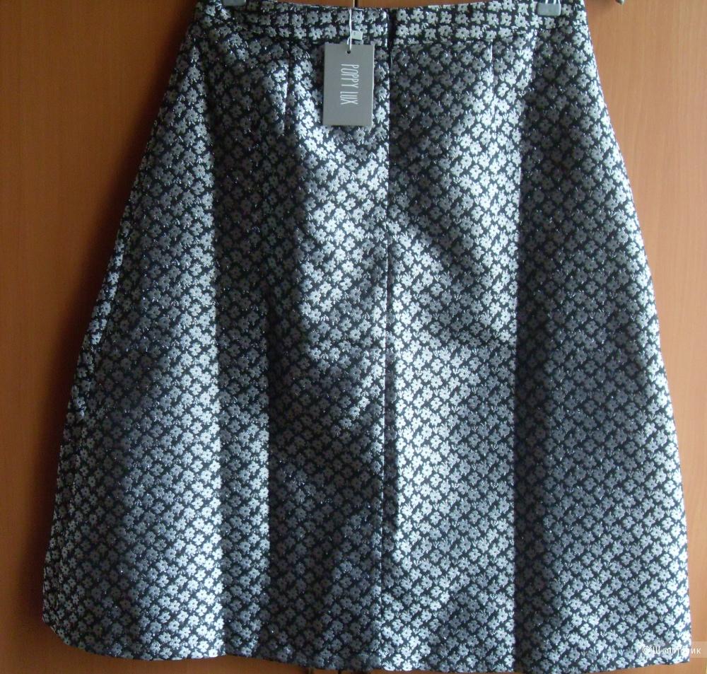 Новая юбка Poppy Lux Sarai Midi Skirt - Silver/black UK12