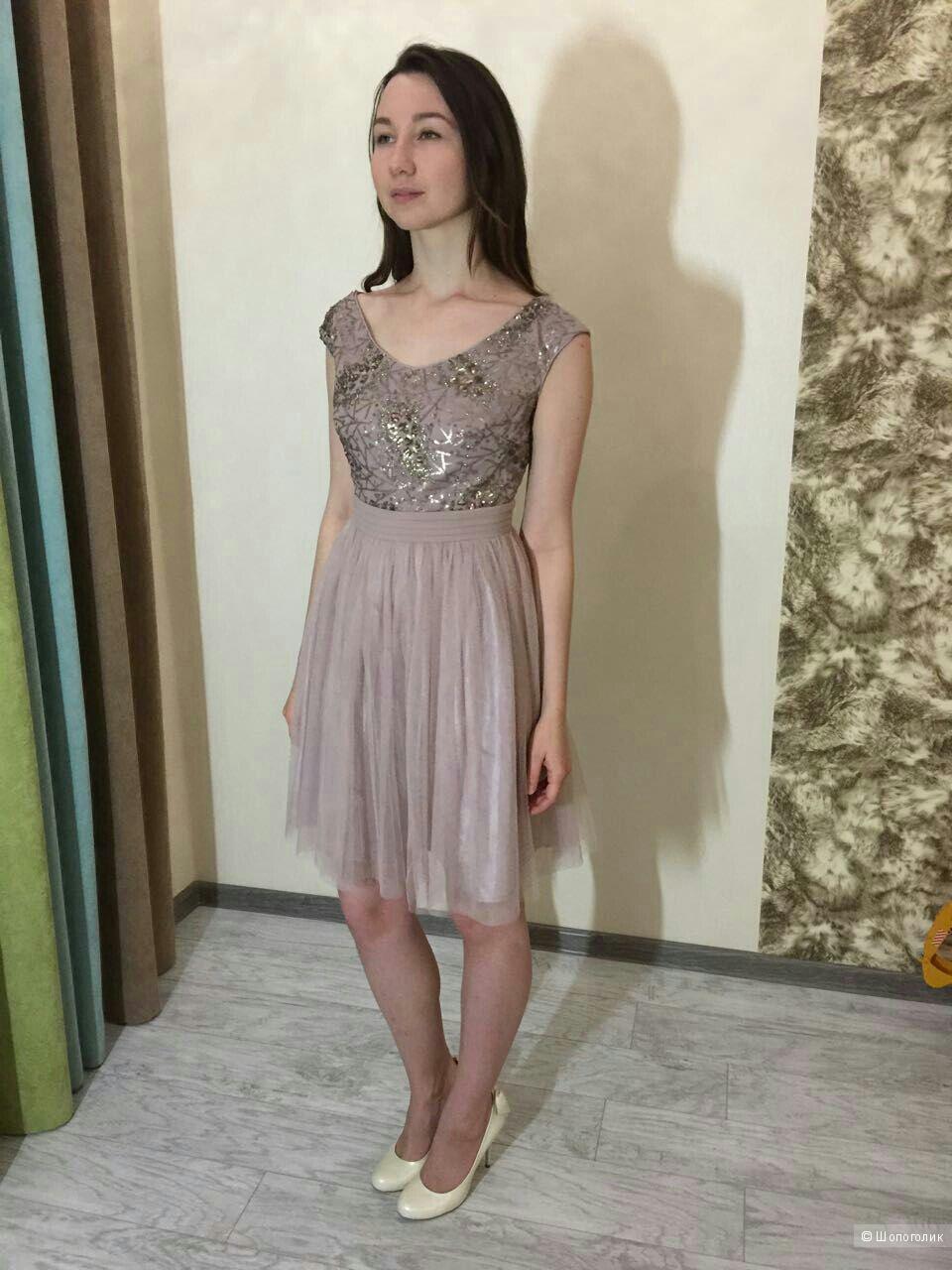 Прекрасное платье Little Mistress, новое, р.12UK