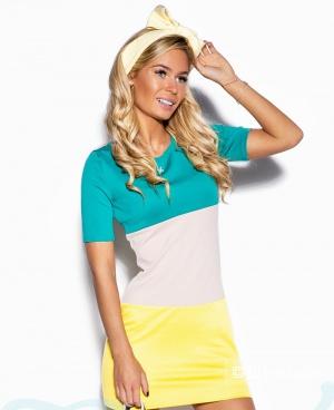 Трёхцветное платье gepur, размер М