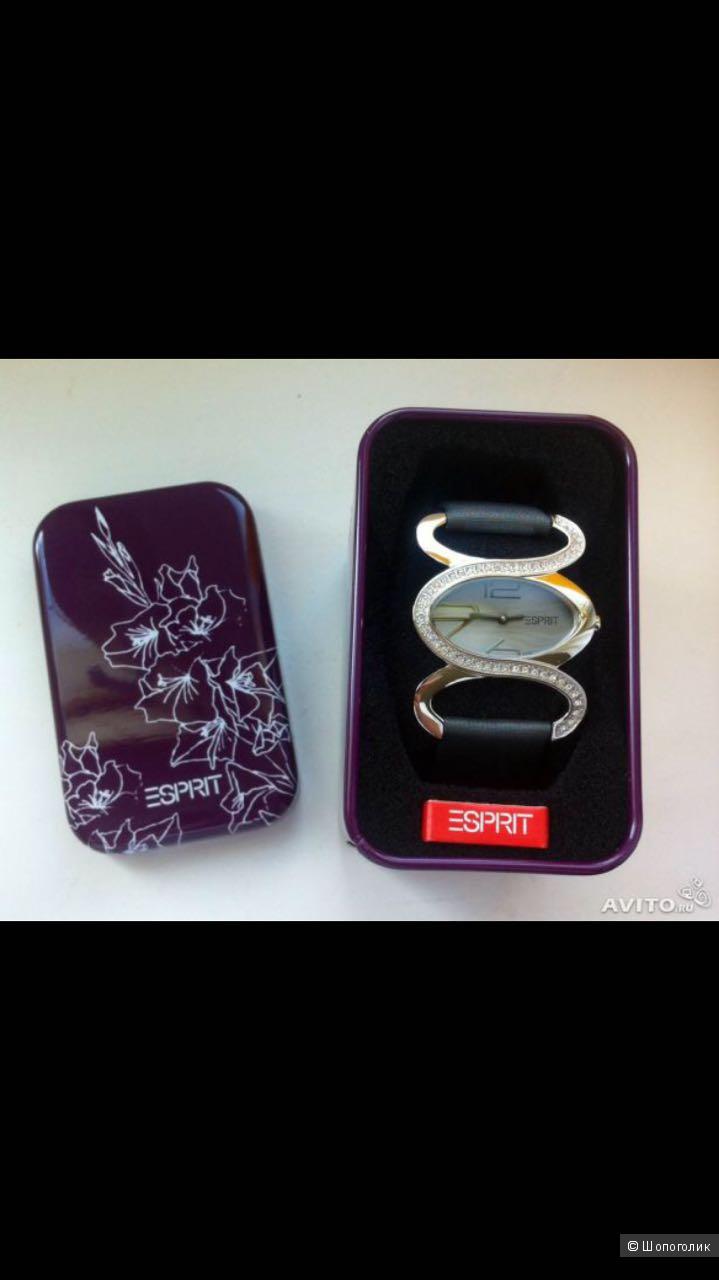 Новые часы esprit 100% оригинал ремешок кожа классический стиль в оригинальной упаковке