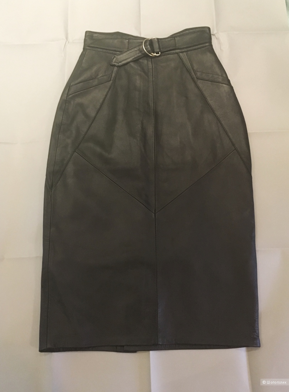 Юбка кожаная ASOS Utility D Ring Belt Leather Pencil Skirt UK 4. Натуральная кожа.