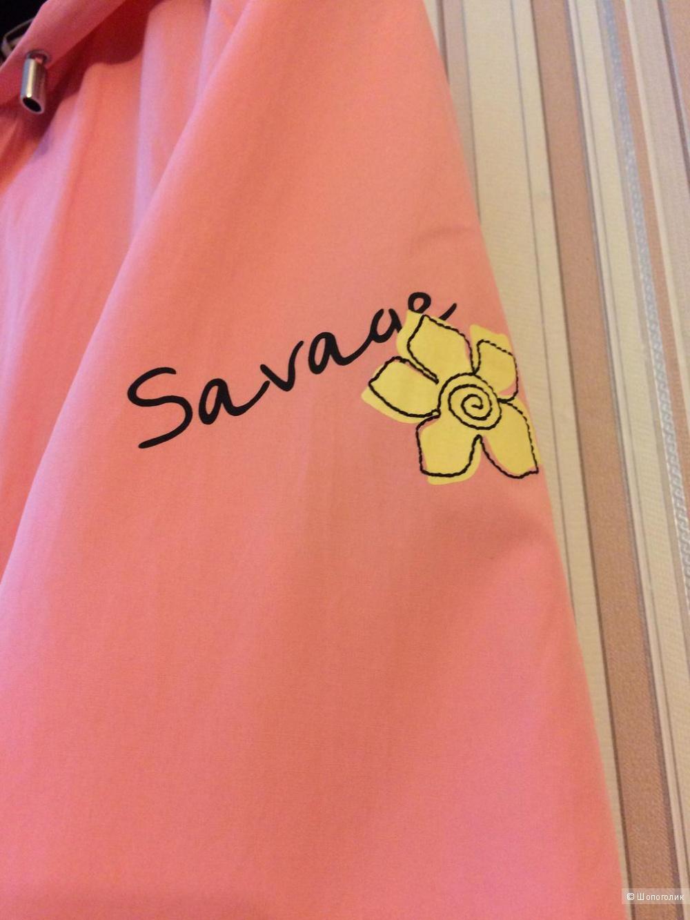 Ветровка-парка Savage красивого лососевого цвета размер 46