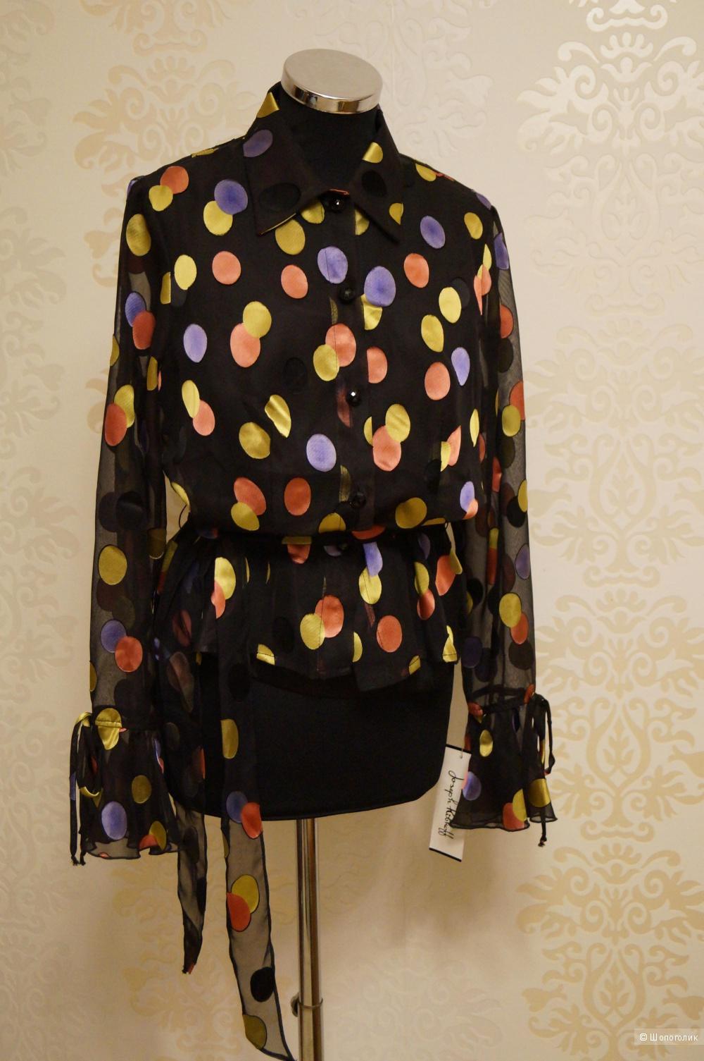 Новая дизайнерская блузка двойка плюс черный шелковый топ.Распродажа в связи закрытием салона .