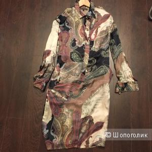 Шелковое платье в стиле etro