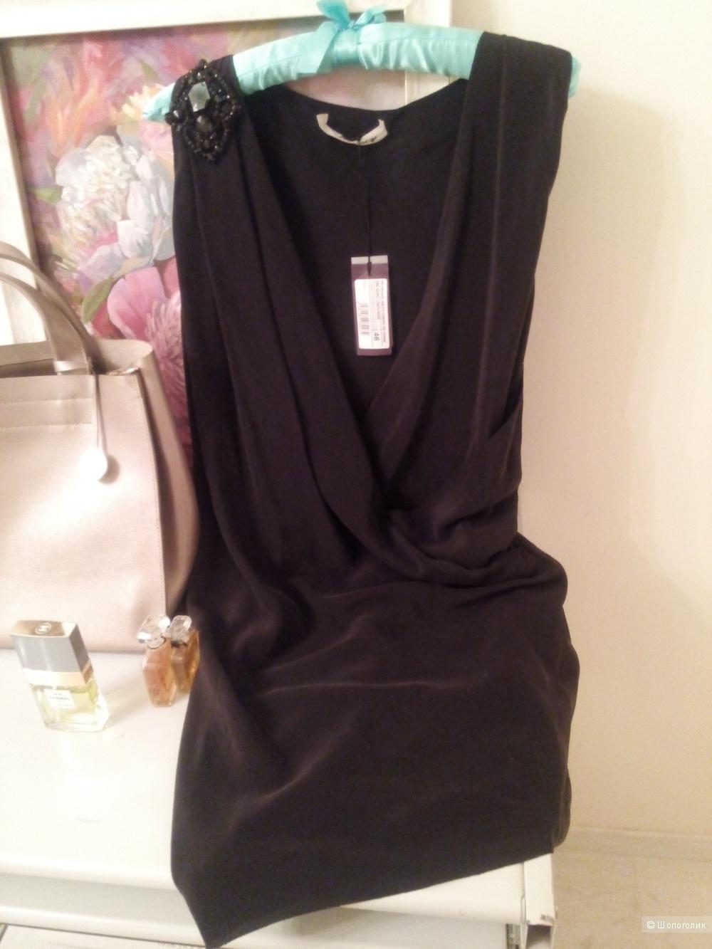 """Маленькое  черное платье  из натурального шелка """"PINKO"""" оригинал ,новое с бирками,размер 14 UK, 44-46 RU"""
