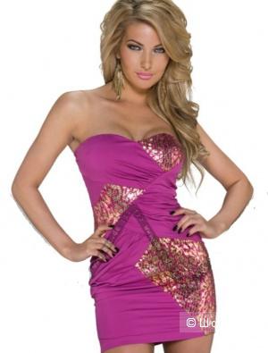 Мини платье с пайетками, размер С