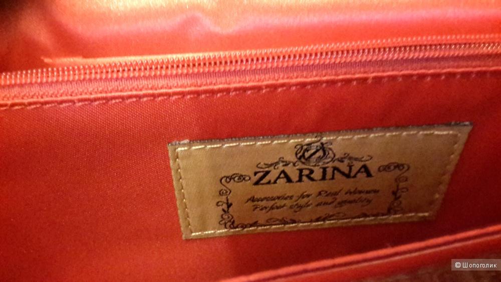 Сумка Zarina б/у 1 раз к/з лак красный
