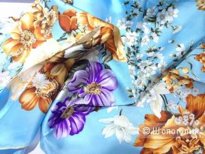 Изумительно шикарный шелковый платок от легендарного Michele Binda 90x90 Новый.Оригинал
