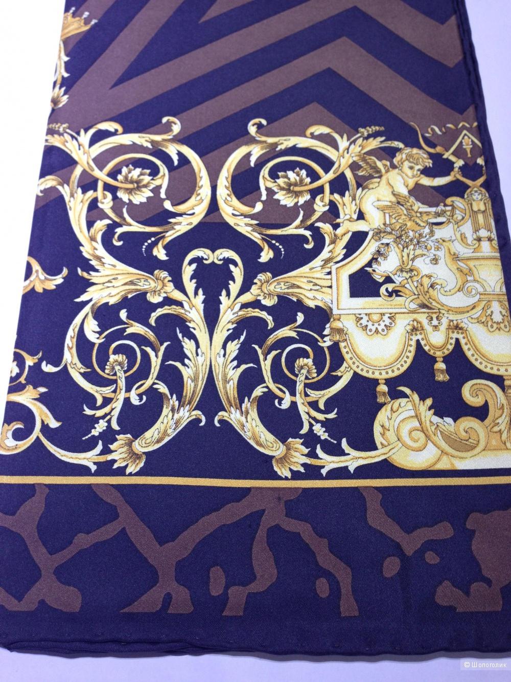 Versace шикарный шелковый платок 90x90 Новый Оригинал