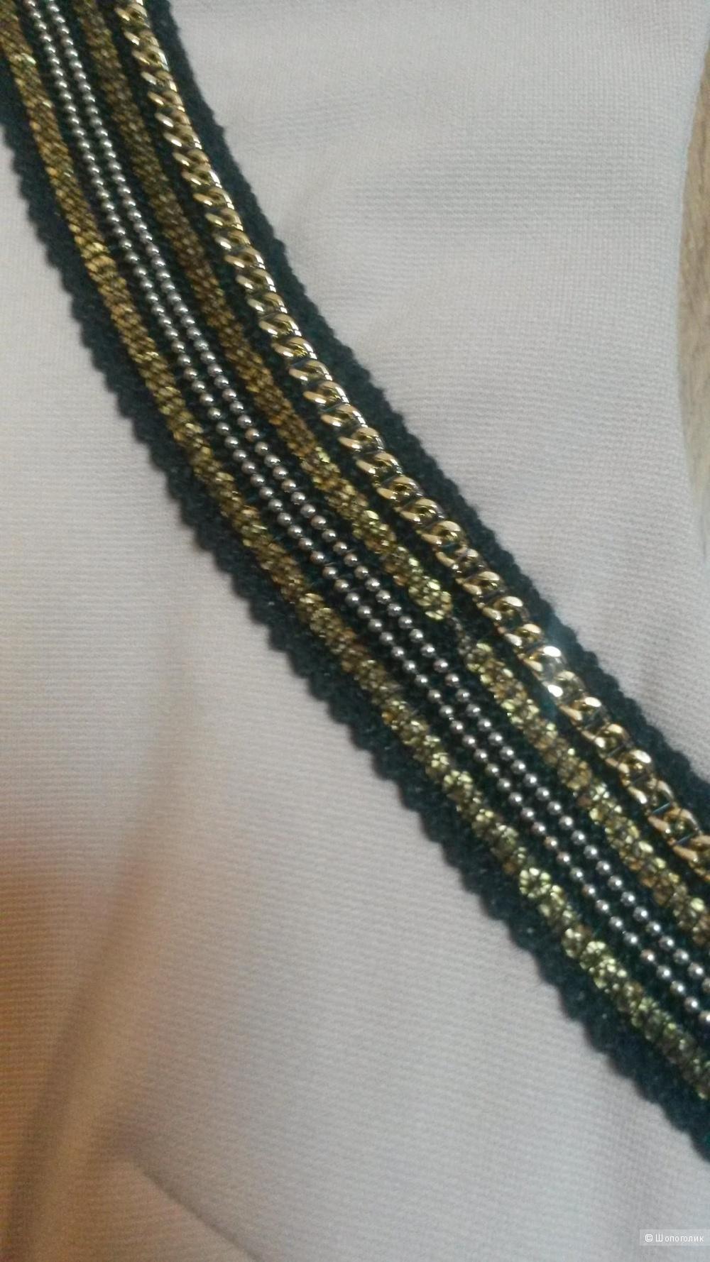 Бежевое облегающее платье, размер С