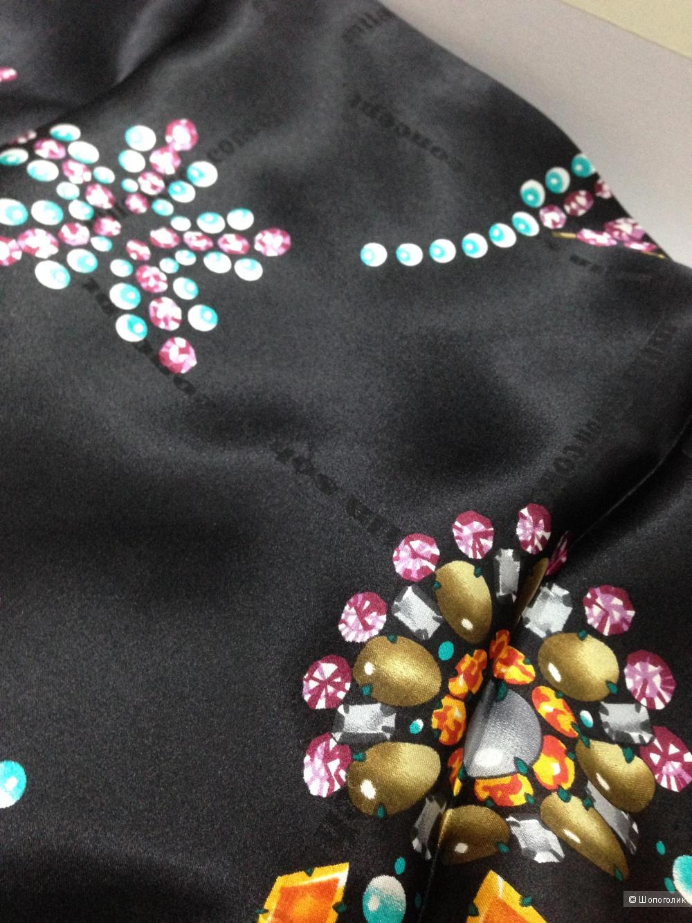 """Шикарный дизайнерский платок от Mila Schön """"лучшие друзья женщины-это бриллианты"""":) Шелк 100%"""