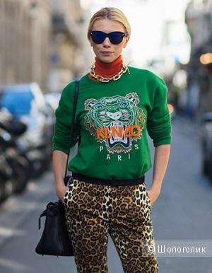 Толстовка-худи Kenzo с тигром, цвет зелёный, размер M/L