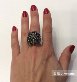 Коктейльное кольцо новое