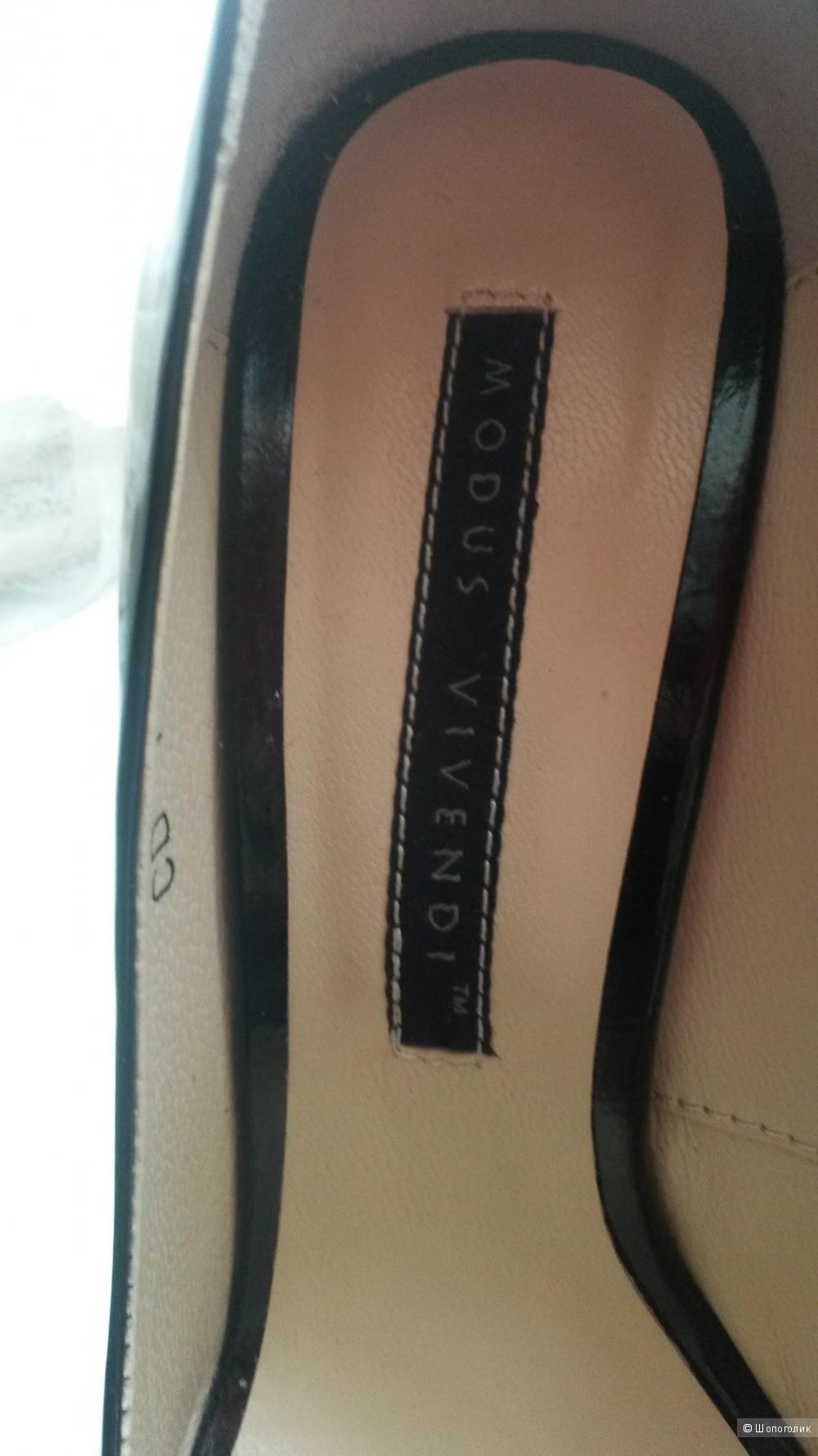 Черные лаковые лодочки, размер 37