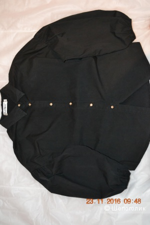 Рубашка  черная ,раз 44-50 -Оверсайз