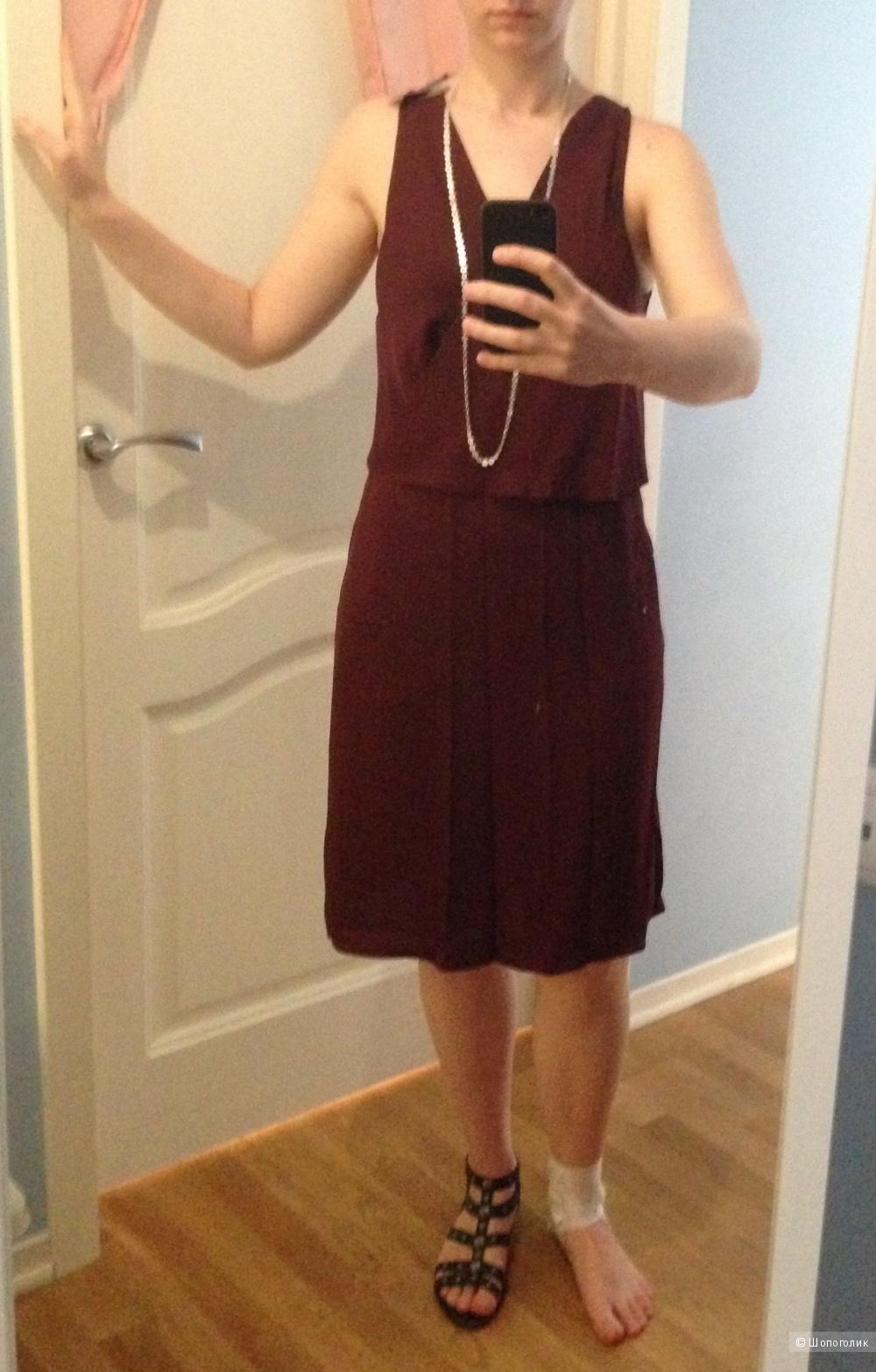 Шелковое платье theory