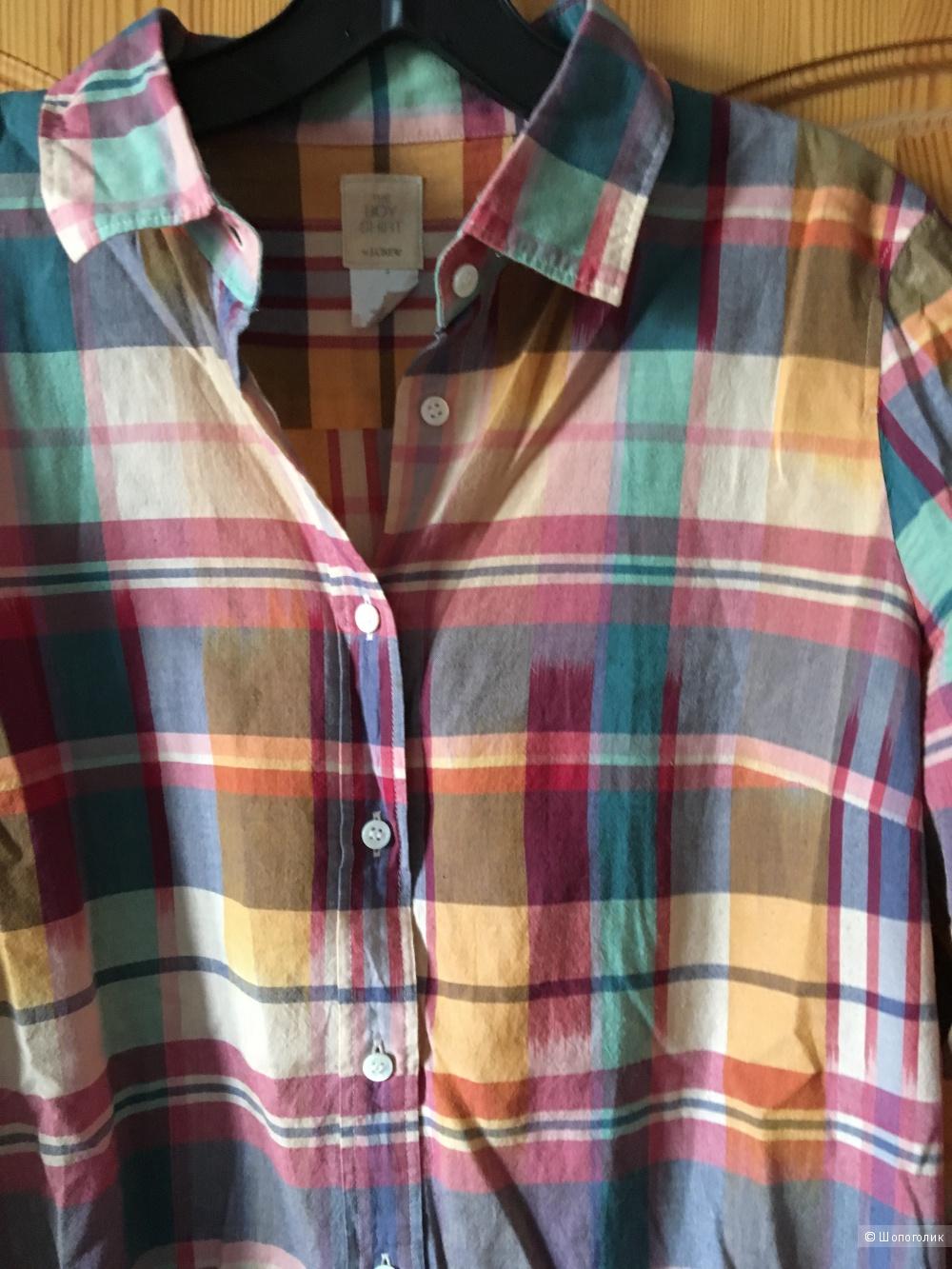 Клетчатая рубашка J Crew размер US 8