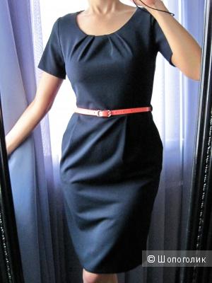 Новое строгое платье миди, размер S