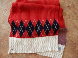Хлопковый шарф -  палантин Tommy Hilfiger