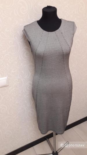 Платье-футляр: гусиная лапка