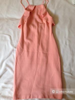 Персиковое платье ZARA 24mex 40-42