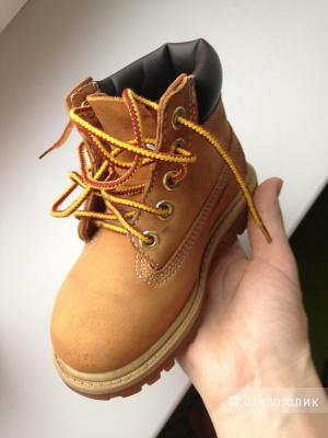 Детские желтые ботинки Timberland