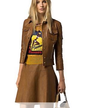 Кожаная куртка Tommy Hilfiger 42-44 размер, новая