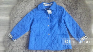 Новая стеганая куртка Burberry 10-12 лет, цвет royal blue.