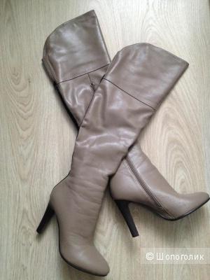 Зимние кожаные ботфорты Ribbica, размер 37