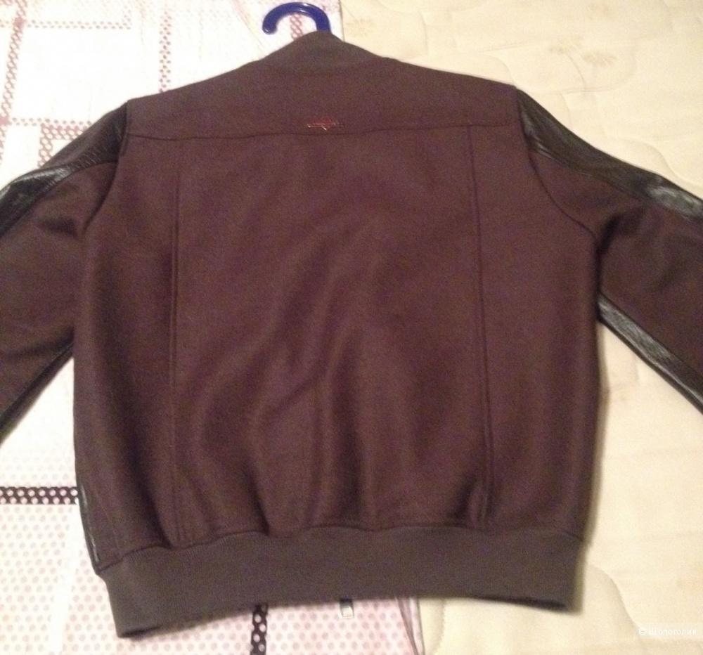 TWIN-SET Simona Barbieri  куртка кожа=шерсть, размер L, на 48-50 размер