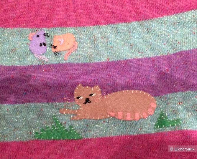 Кофточка с котом и мышами от Michael Simon, 42 р