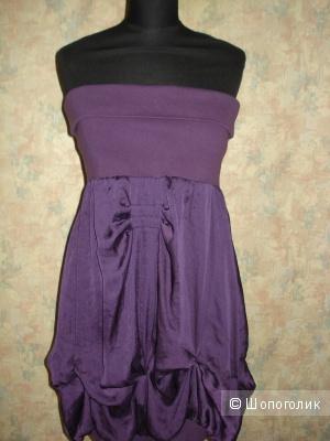 Шелковое платье-бюстье Sisley р. 42-44